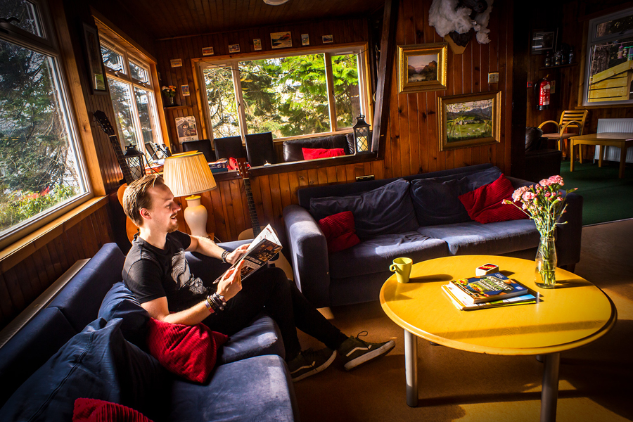 Lounge at Lochside Hostel